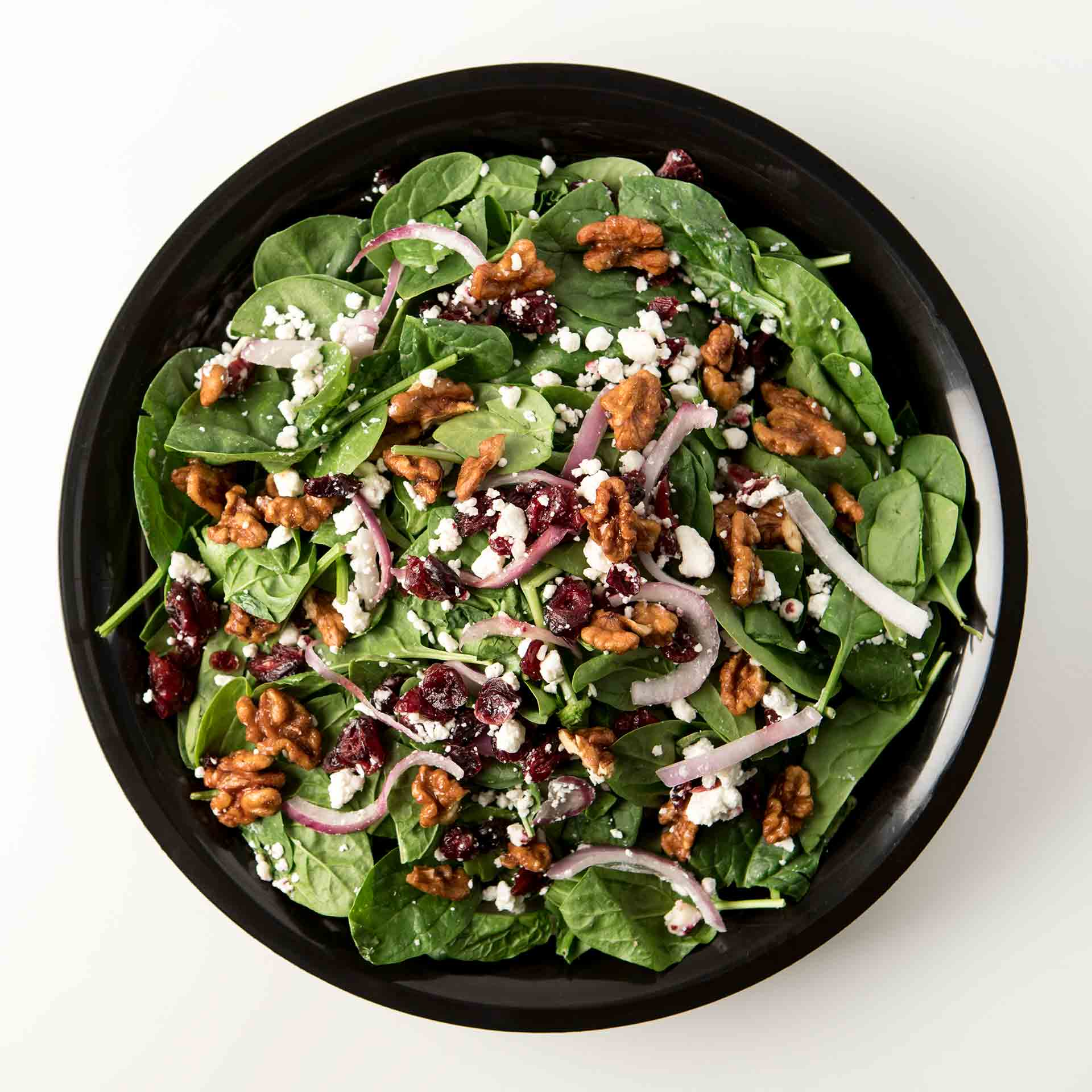Spinach with Goat Cheese Salad
