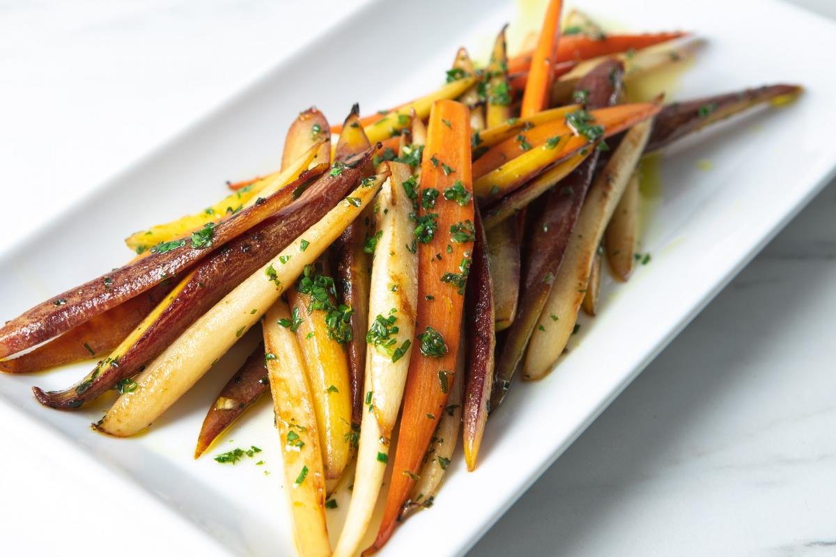 caramelized rainbow carrots