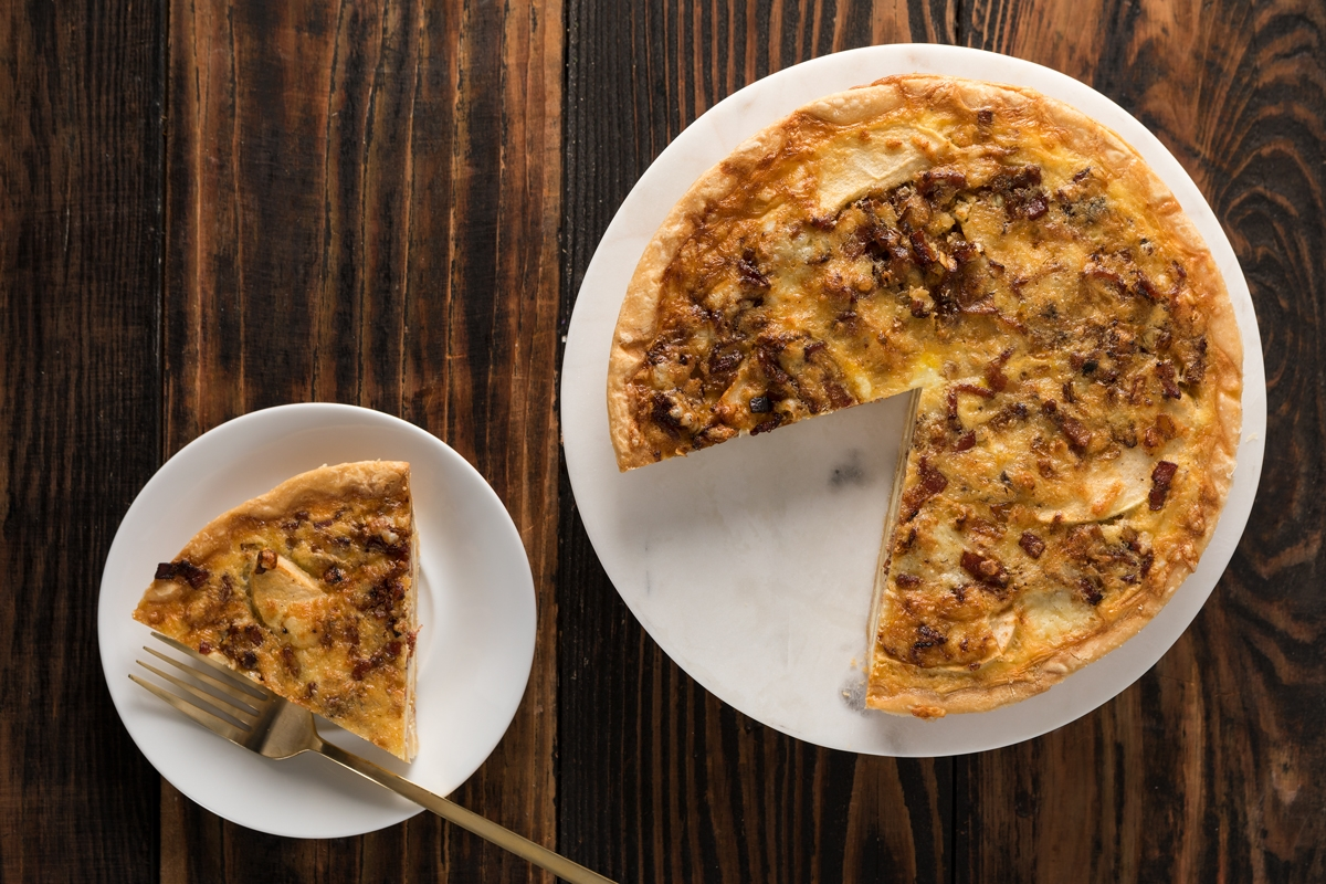 Bacon, Apple and Cheddar Quiche