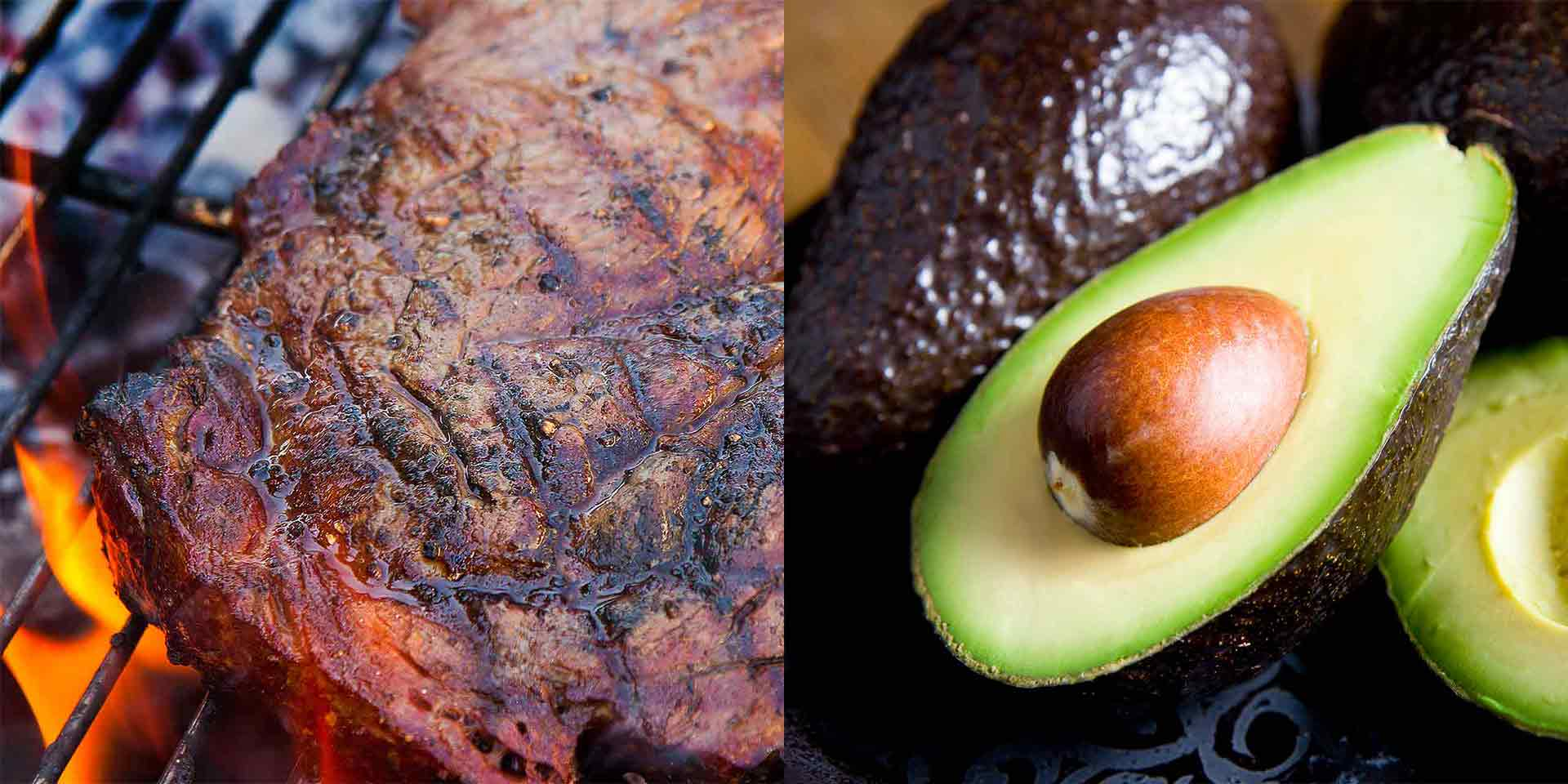 Ribeye Steaks and Avocados