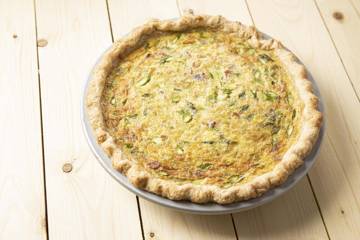 bacon, leek and asparagus quiche