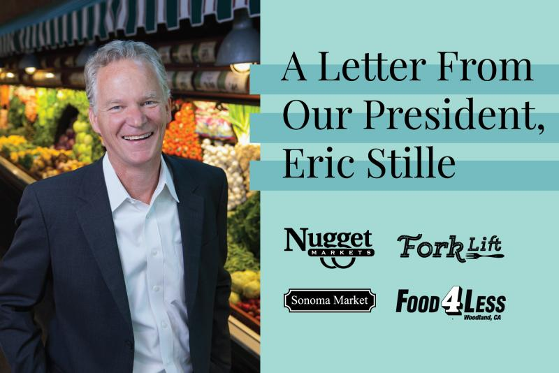 "Eric Stille with text saying ""a letter from our president, Eric Stille"" and logos"